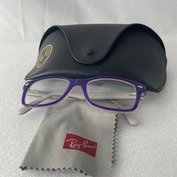 Ray-Ban Accessories   Ray-Ban Eyeglasses Rb 1531 3591 Purple Full Rim   Color: Gray/Purple   Size: Osb