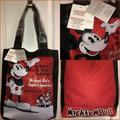 Disney Bags | Disney Mickey Mouse Red Canvas Tote Bag | Color: Black/Red | Size: Os