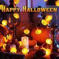 Mroobest Halloween String Lights, LED Pumpkin Lights, Pumpkin String Lights Battery Powered, Operated Pumpkin Lights for Halloween Party Indoor & Outdoor Decorations