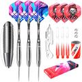 CyeeLife Tungsten 90% Steel tip Darts with Carry case,21/22/23/26/28/30g Professional Darts Set for Professional Competition (Los Angeles Without Carry case, 26 Grams)