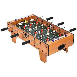 Goplus Mini Foosball Table, 27in Soccer Game Table w/ 2 Footballs and Soccer Keepers, Portable Football Game Set for Kids & Adults in Office, Game Room, Living Room