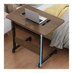 Foldable Laptop Stand Days Overbed Table, Mobile Lap Table, Mobile Computer Stand Laptop Notebook Desk PC Stand Portable (Color : Black Oak, Size : 80x40cm)