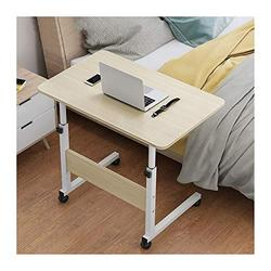 Foldable Laptop Stand Days Overbed Table, Mobile Lap Table, Mobile Computer Stand Laptop Notebook Desk PC Stand Portable (Color : Oak, Size : 80x40cm)