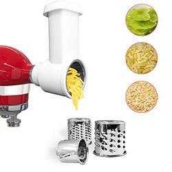 Slicer Shredder Attachment for kitchenaid Stand Mixer, Cheese Grater Attachment for kitchenaid Stand Mixer, kitchenaid mixer accessories with 3 Blades