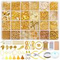 3166Pcs Jewelry Making Kit, GACUYI Earring Making Supplies Kit with 5 Styles Beads, Earring Hooks, Jump Rings, Earring Backs, Pliers, Tweezers for Bracelets Jewelry Making Supplies and Earring Repair