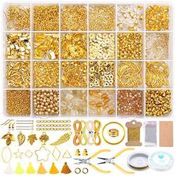 3166Pcs Jewelry Making Kit, GACUYI Earring Making Supplies Kit with 5 Styles Beads, Earring Hooks, Jump Rings, Earring Backs, Pliers, Tweezers for Bracelets Jewelry Making Supplies and Earring Repair