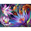 Iyyuor Dynamic Floral Fantasy 5D DIY Diamond Painting Christmas Kits for Adults, Full Drill Crystal Rhinestone Embroidery Arts Craft for Home Wall Decor Gift(Square 40x50cm)