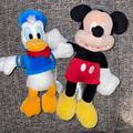Disney Toys | Disney Mickey Mouse Plush Mickey & Donald Duck | Color: Blue/Red | Size: Osbb