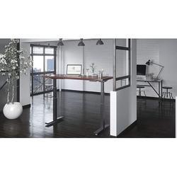 Inbox Zero Height Adjustable Standing Desk Wood in Gray/Brown, Size 72.0 W in   Wayfair D695C11C34E643B89AEC12D7DA34106C