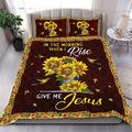 in The Morning When I Rise Give Me Jesus Sunflower Quilt Quilt Patterns All-Season Quilts Comforters with Cotton - King Queen Twin Size Beach Trips, Gifts Quilt