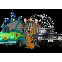 DIY Diamond Painting kit, Scooby Doo and Supernatural 5D Crystal Rhinestone Embroidery Artwork, Mosaic Room Decoration Painting.(19.7x27.6inch)