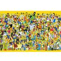 CGMY Anime Simpson Wooden Puzzle Adult Decompression Intelligence Toys Puzzle HD Printed Poster Jigsaw Puzzle 300/500/1000 Pieces Home Puzzle Game Puzzle Collection Puzzle Educational Gifts
