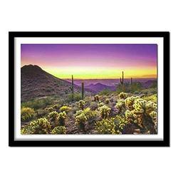 DIY 5D Diamond Painting by Number Kit, Purple Desert Beautiful Sunset Full Drill Crystal Rhinestone Mosaic Embroidery Cross Stitch Arts Craft Canvas Wall Decor (50x70cm,20x28inch)