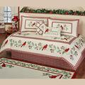 Nc Home Fashions, Inc. Red Bird Cardinal Comforter Set Christmas Bedding Plaid Holiday Bedroom Wintersong Daybed Set Ecru Daybed