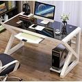 YWDNZ Home Office Desks Computer Desk, Desk, PC Laptop Desk, Workstation, Home Office Gaming Table, Simple Tempered Glass Computer Desk Learning Desk (Color : B)