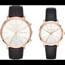 Michael Kors Accessories | New Michael Kors Jaryn Two Watch Rosegold Gift Set | Color: Black/Gold | Size: Os