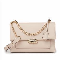 Michael Kors Bags | Michael Kors Cece Chain Strap Leather Shoulder Bag | Color: Cream | Size: Medium