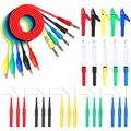 Goupchn Back Probe Kit 30PCS Banana Plug to Copper Alligator Clip Automotive Test Leads Set with Alligator Clips, Wire Piercing Probes, 15PCS 30V Back Probe Pins for Car Repairing Diagnostic 5 Colors