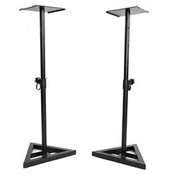 SPARSIFOLIA Speaker Stand; Adjustable Heavy Duty Tripod DJ PA Speaker Stands Monitor Stand Speaker Holder Musical Instrument Accessory with Carry Bag 2pcs; Black