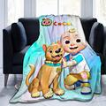 Hankcles Cocomelon Throw Blanket Anime Blanket Fleece Blanket Throw Size Lightweight Super Soft Cozy Bed Blanket Microfiber for Adults Or Children 80x60inch