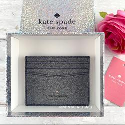 Kate Spade Bags | Kate Spade Small Slim Card Holder - Gift Box | Color: Gray/Silver | Size: Os