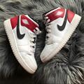 Nike Shoes | Nike Air Jordan 1 Mid Sz 4 Big Kids | Color: Red/White | Size: 4b
