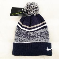 Nike Accessories | Nike Beanie Hat Cozy Winter Hat Removable Pom | Color: Black/Gray | Size: Navy