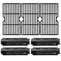 VICOOL Porcelain Steel Heat Plates and Grill Grates Replacement Kit for Charbroil, Master Chef Gas Grills