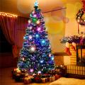 Christmas Tree Tree Fiber Optic Color Changing Multi Colour Led Lights with Star Free Standing Indoor/Outdoor Tree Lights Xmas Gift,1.5Ft