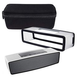 DaMohony Travel Carrying Case for Bose SoundLink Mini I II 2 BT Speaker, Storage Protective Bag Soft Silicone Interior Cover for Speaker and Dock