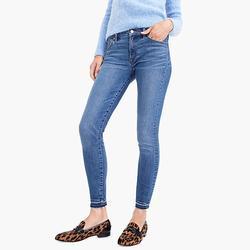 J. Crew Jeans | J. Crew Jeans 8 Toothpick Raw Hem Skinny Denim 27 | Color: Blue | Size: 27