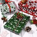 HEALLILY 4pcs Foil Wrapping Paper Gift Wrapping Paper Christmas Foil Wrapping Paper for Christmas Banquet Xmas