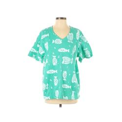 COTTON CONNECTION Short Sleeve T-Shirt: Blue Tops - Size Small