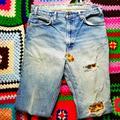 Levi's Jeans | Hp! 70s Orange Tab Levis Sunflower Patches Vintage | Color: Orange | Size: W34 L30