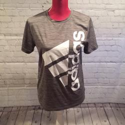 Adidas Shirts & Tops | Adidas Youth Gray Logo Athletic Top 1416 | Color: Gray/White | Size: 1416