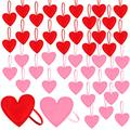 Iceyyyy 40 Pieces Valentine's Day Felt Heart Hanging Ornaments, Valentines Heart Hanging Decorations for Tree, Red and Pink Felt Heart Shaped Ornaments for Valentines Day Wedding Party Supplies