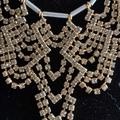 Madewell Jewelry | Madewell Rhinestone Statement Necklace Gold Silver | Color: Gold/Silver | Size: Os