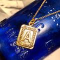 Anthropologie Jewelry | Gold Plated Alphabet Necklace Letter Necklace | Color: Gold | Size: Os