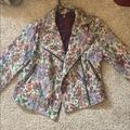 Free People Jackets & Coats | Free People Floral Moto Jacket | Color: Red | Size: 6