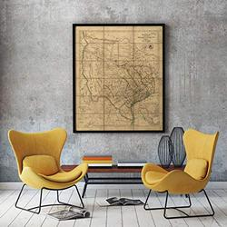 Map Poster Aesthetic Texas Map Wall Art Vintage 1841 Antique Map Historical Map Antique Restoration Hardware Style Map Of Texas State Map Texas Map