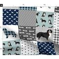 Spoonflower Fabric - Bernese Mountain Dog Pet Quilt Cheater Wholecloth Dogs Portrait Printed on Minky Fabric by The Yard - Sewing Baby Blankets Quilt Backing Plush Toys