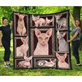 Sphynx Cat Make Me Happy Beautiful Quilt Quilt Patterns All-Season Quilts Comforters with Cotton - King Queen Twin Size Beach Trips, Gifts Quilt