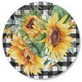 CounterArt Glass Sunflower Fields Cutting Board Glass, Size 0.5 H in | Wayfair 207-00006
