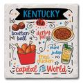 CounterArt Favorite Foods of Kentucky Absorbent Stone Coaster Stoneware in Black/Blue/Red, Size 4.0 H x 4.0 D in   Wayfair 01-02536