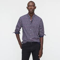 J. Crew Shirts | Slim Untucked Stretch Wash Cotton Poplin Shirt | Color: Blue | Size: S