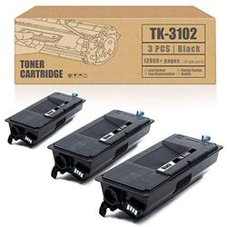 Compatible Toner Cartridge TK3102 TK-3102 1T02MS0US0 Replacement for Kyocera ECOSYS M3040idn M3540idn FS-2100DN 2100D Printer Ink Cartridge[3 Pack,Black,High Yield]