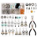 Tokenhigh Jewelry Making Kit, Vintage Dangle Earrings Jewelry Making Starter Kit,Assorted Beads, Earring Hooks Jewelry Making Supplies Kit for DIY Earring Jewelry Making