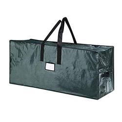 9Ft Large Christmas Tree Storage Bag- Stores a 9 ft Xmas Holiday Disassembled Artificial Tree with Durable Handles & Dual Zipper-Waterproof Material Against from Dust, Moisture & Insects, Green