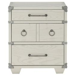 Williston Forge Thurber 4 - Drawer Nightstand in Gray Wood in Brown/Gray/White, Size 24.0 H x 22.0 W x 16.0 D in   Wayfair