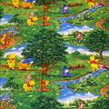 Disney Other | Disney Fabric Cotton Quilt Winnie The Pooh Piglet | Color: Blue/Green | Size: Os